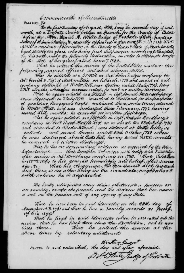 fold3 page_6 winthrop sargent revolutionary war pension and bountyland warrant application files-1