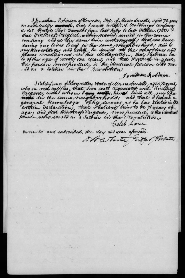 fold3 page_7 winthrop sargent revolutionary war pension and bountyland warrant application files-1
