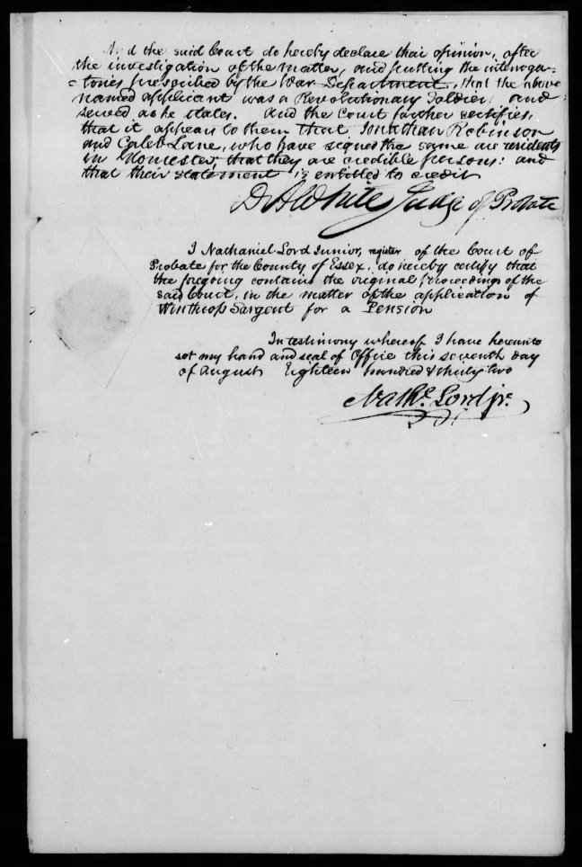 fold3 page_8 winthrop sargent revolutionary war pension and bountyland warrant application files-1