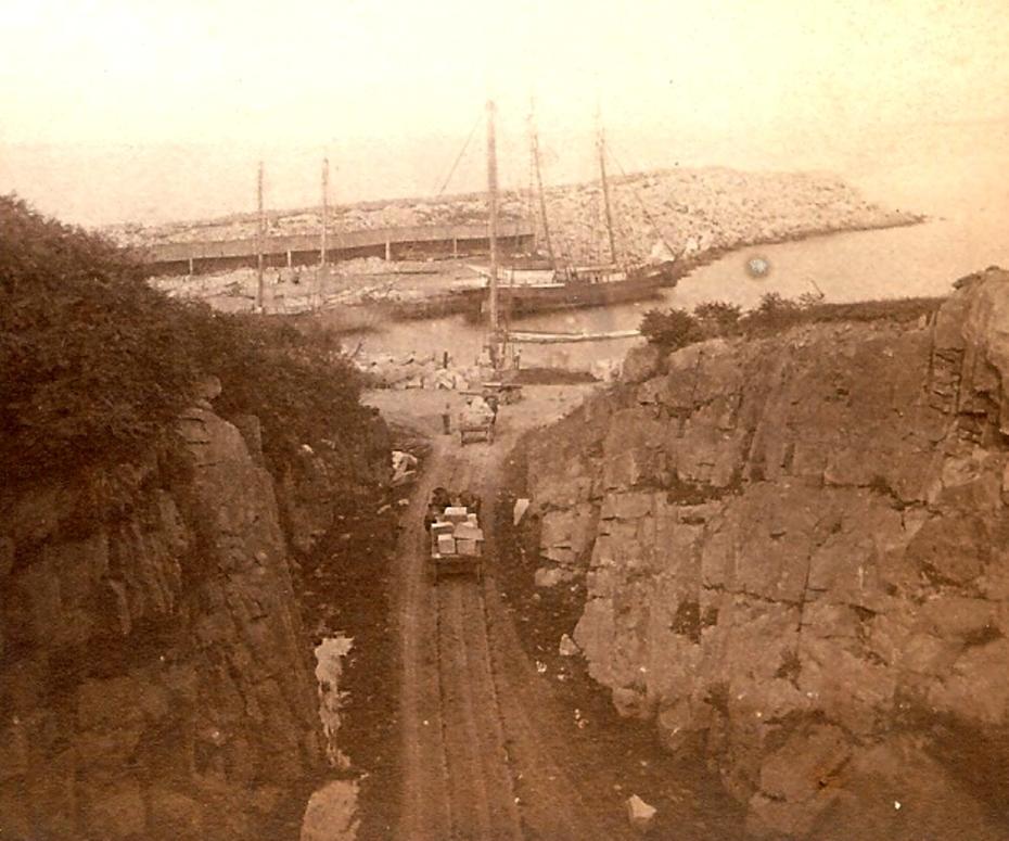 granite wharf - railway from quarry