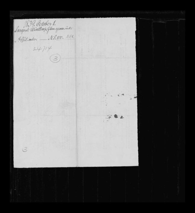 pg 11 winthrop sargent essex county, ma, 24714 probate file papers 1839