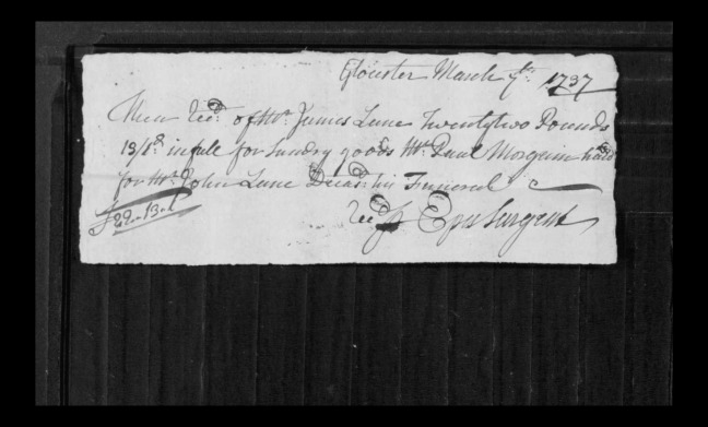 pg 12 john lane 16318 essex county, ma, probate file papers 1738