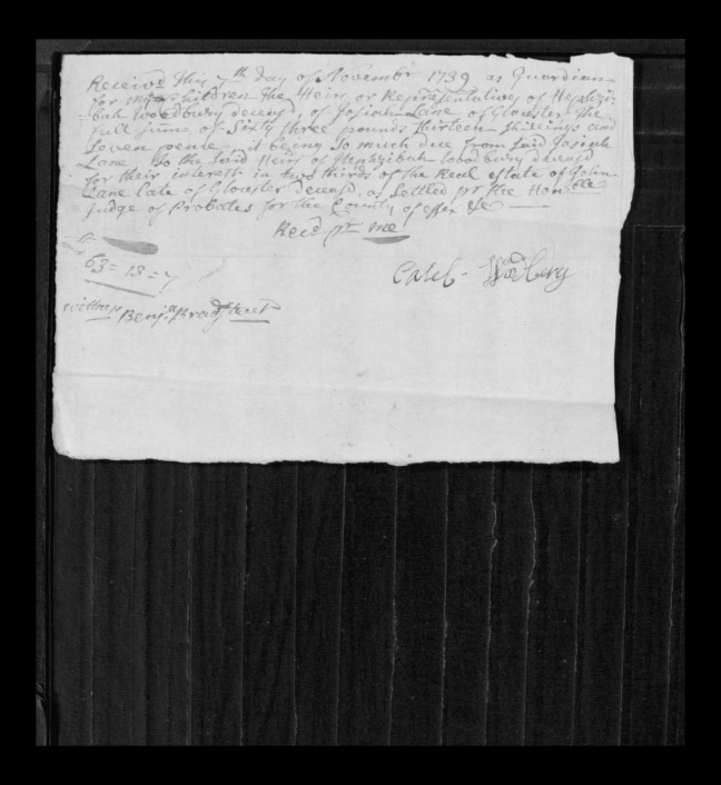 pg 17 john lane 16318 essex county, ma, probate file papers 1738