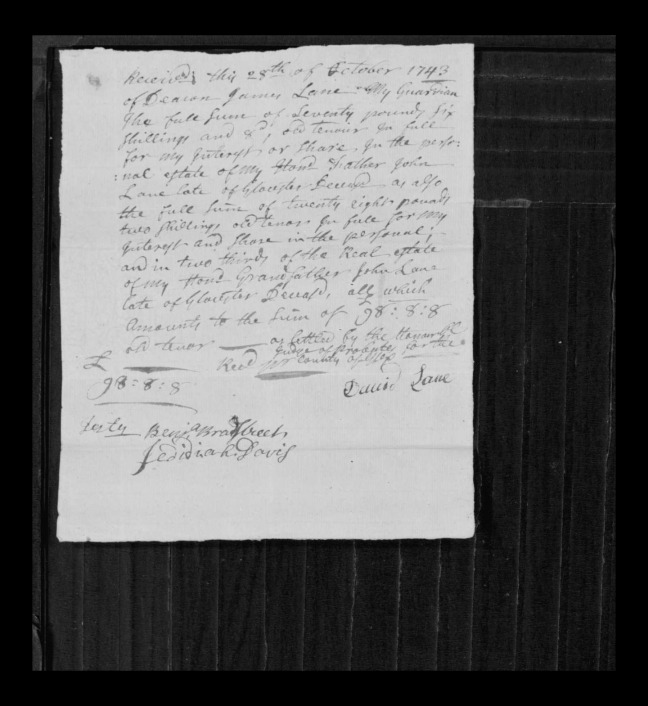 pg 21 john lane 16318 essex county, ma, probate file papers 1738