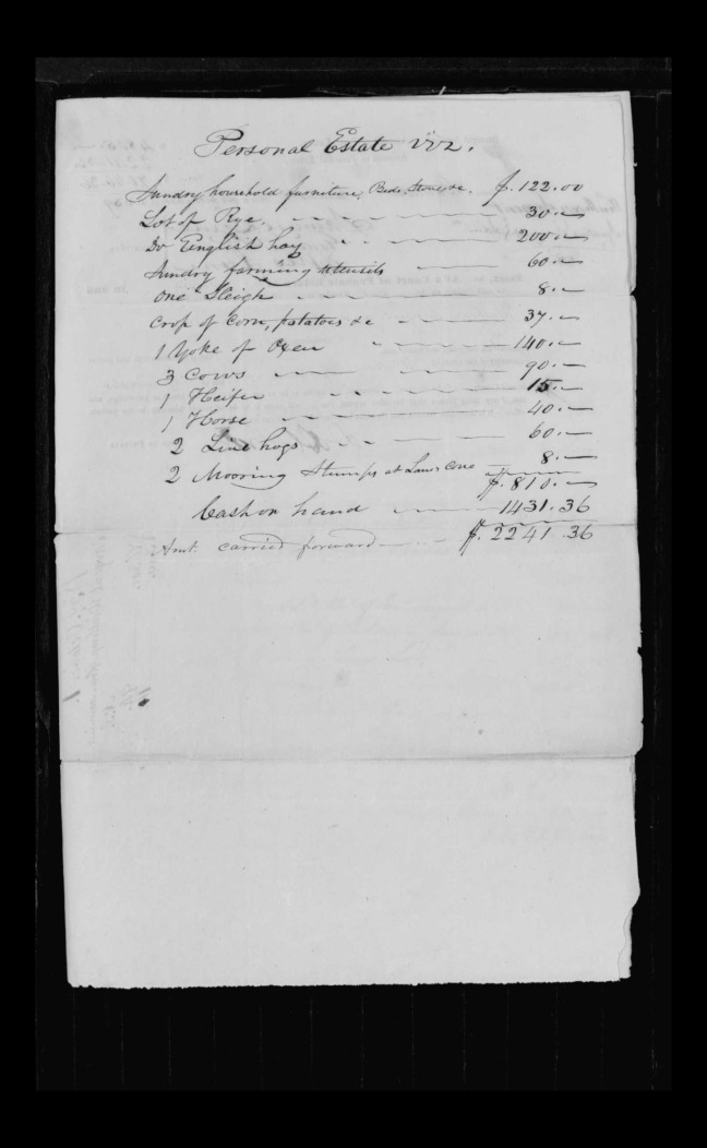 pg 23 winthrop sargent essex county, ma, 24714 probate file papers 1839