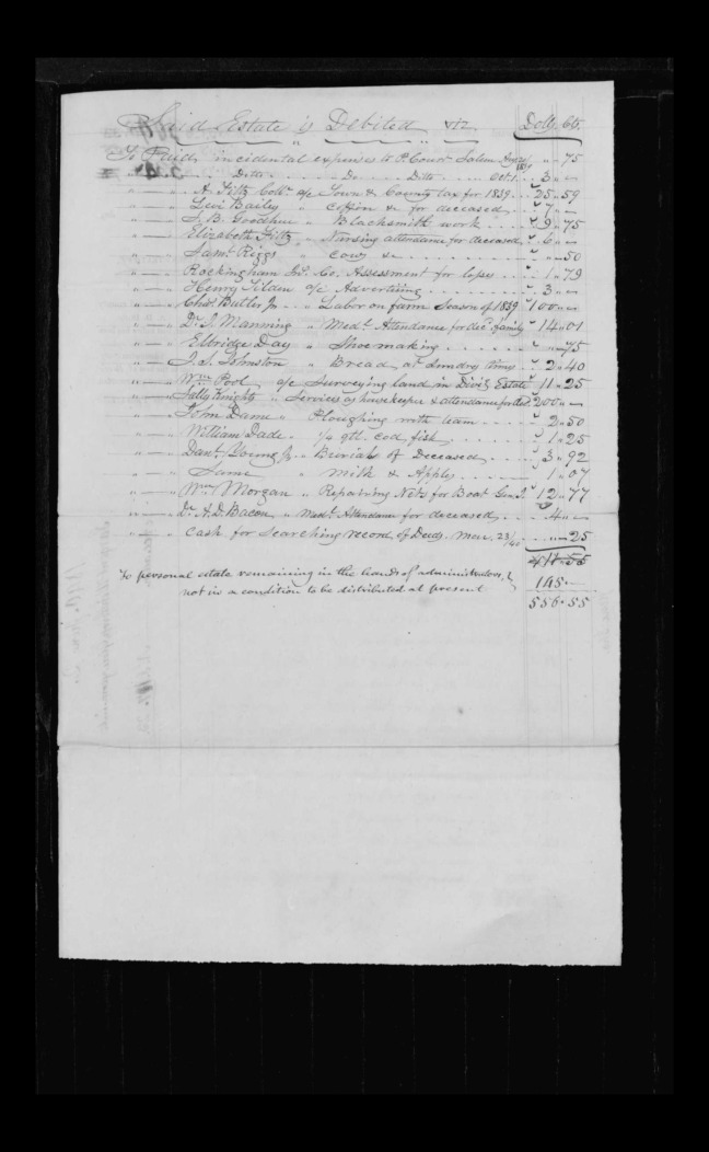 pg 26 winthrop sargent essex county, ma, 24714 probate file papers 1839