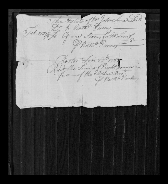 pg 28 john lane 16318 essex county, ma, probate file papers 1738