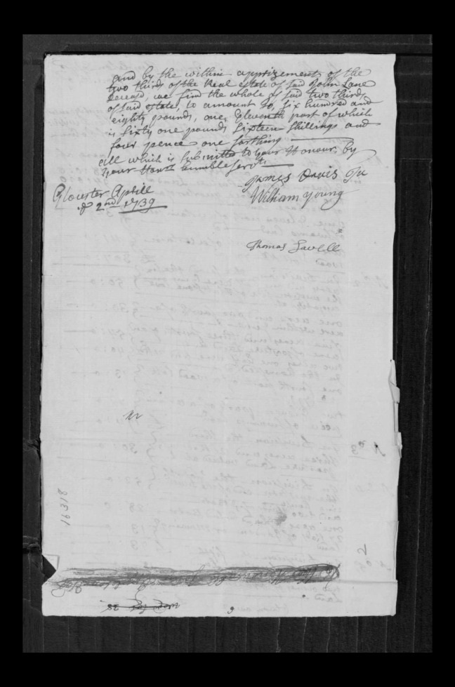 pg 44 john lane 16318 essex county, ma, probate file papers 1738
