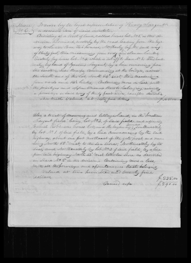 pg 44 winthrop sargent essex county, ma, 24714 probate file papers 1839
