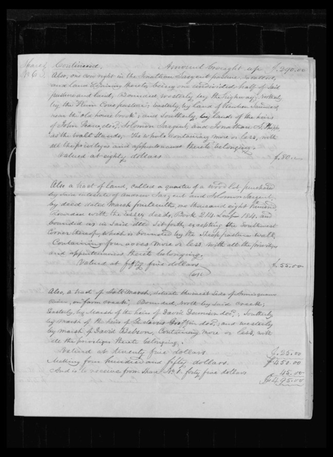 pg 45 winthrop sargent essex county, ma, 24714 probate file papers 1839