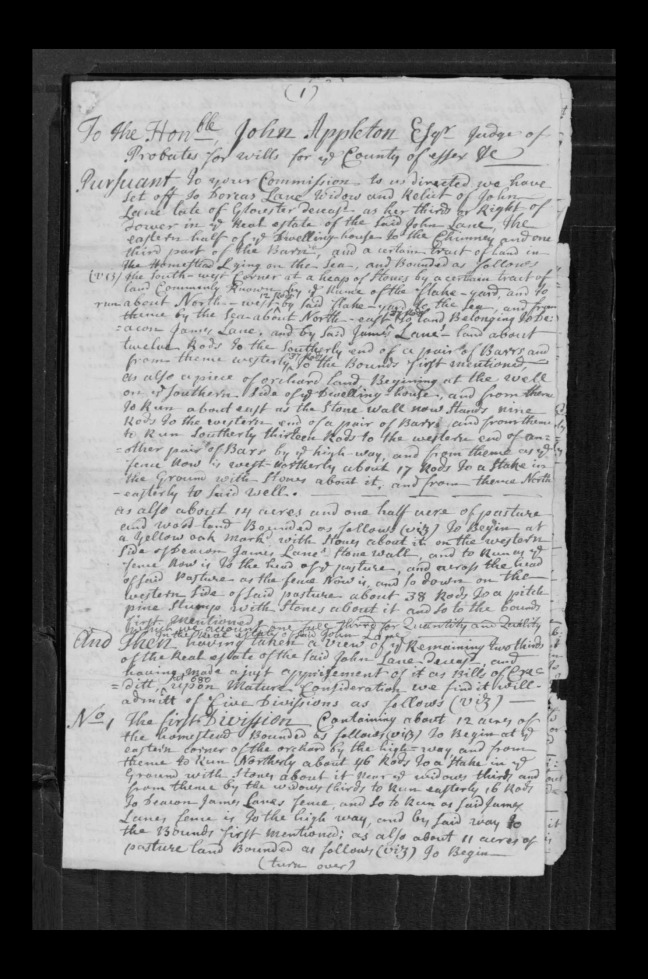 pg 46 john lane 16318 essex county, ma, probate file papers 1738