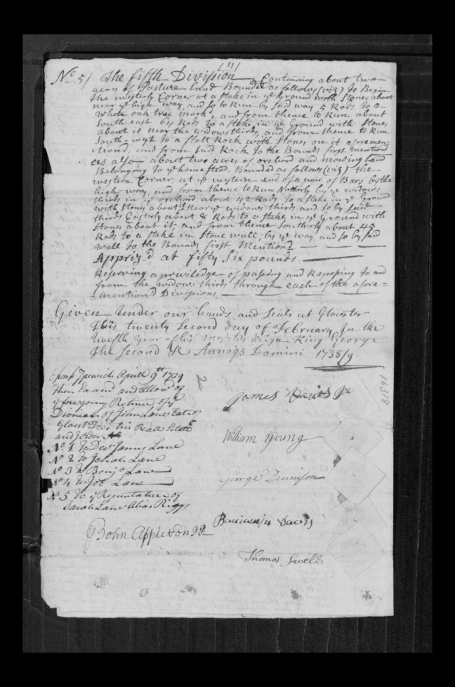 pg 49 john lane 16318 essex county, ma, probate file papers 1738