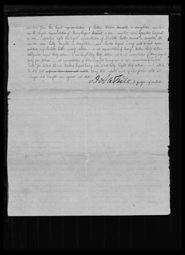 pg 52 winthrop sargent essex county, ma, 24714 probate file papers 1839