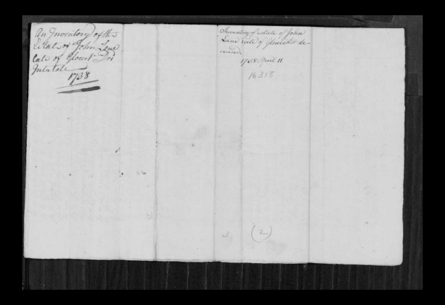 pg 54 john lane 16318 essex county, ma, probate file papers 1738