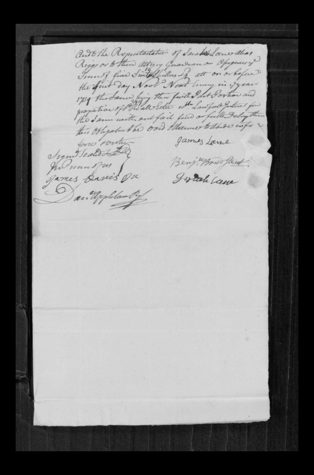 pg 56 john lane 16318 essex county, ma, probate file papers 1738