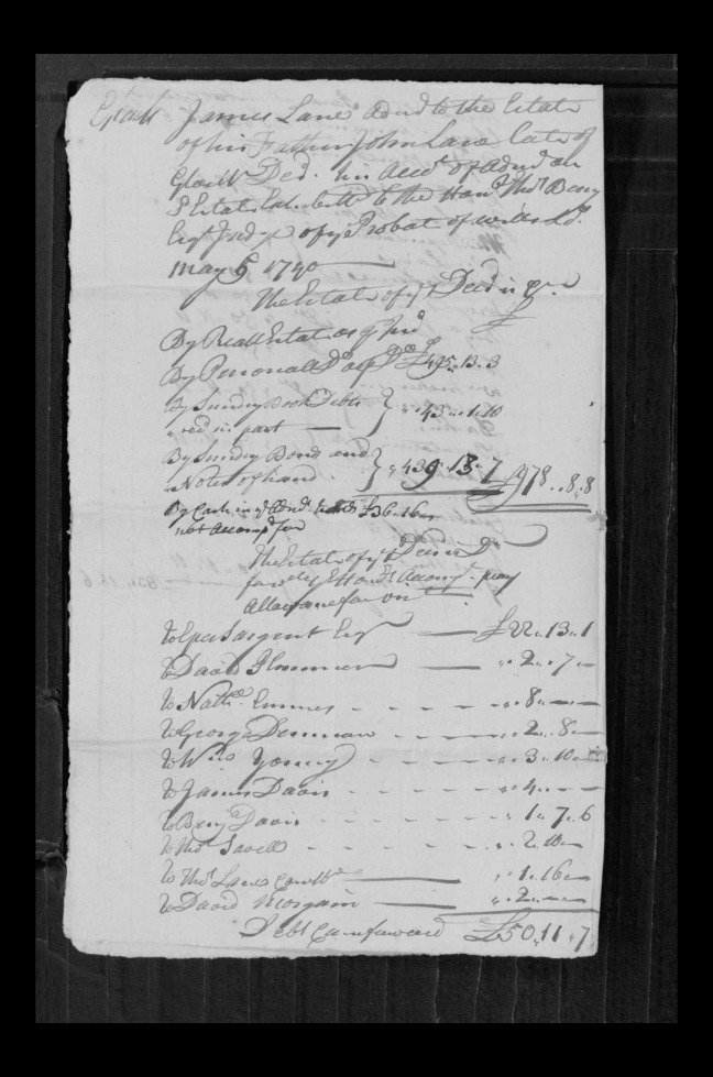pg 58 john lane 16318 essex county, ma, probate file papers 1738