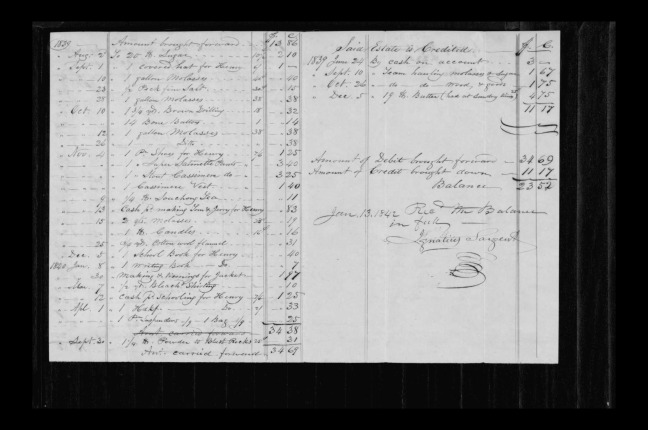 pg 6 winthrop sargent essex county, ma, 24714 probate file papers 1839