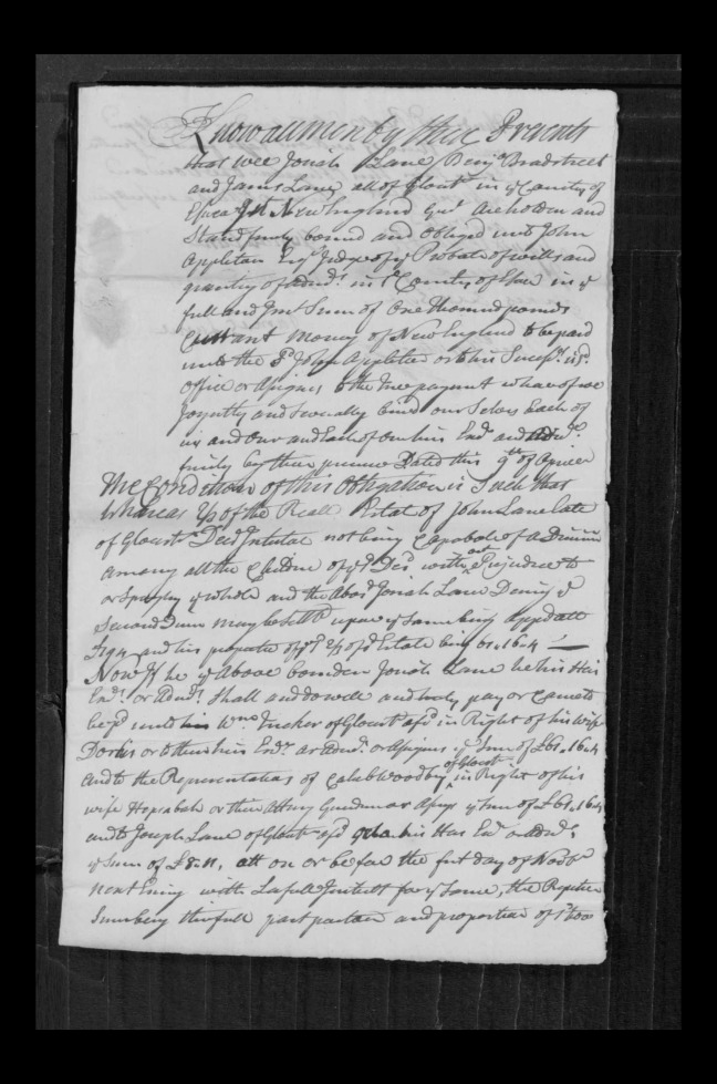 pg 63 john lane 16318 essex county, ma, probate file papers 1738