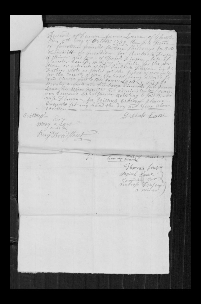 pg 66 john lane 16318 essex county, ma, probate file papers 1738