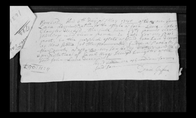 pg 7 john lane 16318 essex county, ma, probate file papers 1738