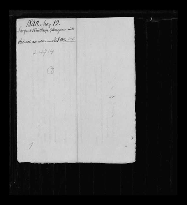pg 9 winthrop sargent essex county, ma, 24714 probate file papers 1839