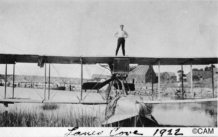 sea plane in lanescove 1922